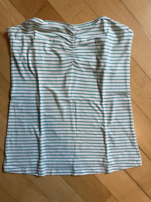 Orsay Off the shoulder top wit-turkoois
