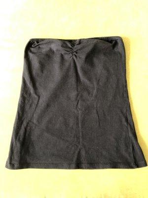 Amisu Top z dekoltem typu bandeau czarny