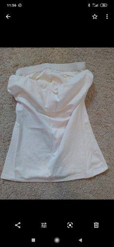 Trägerloses Top in weiß