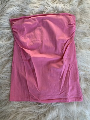 Trägerloses Top rosa