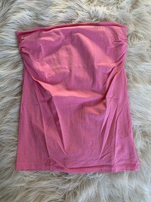 Trägerloses Top rosa Primark Größe44