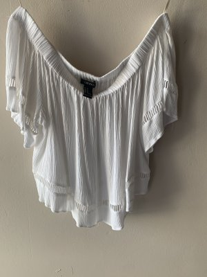 Forever 21 Cropped shirt wit-wolwit