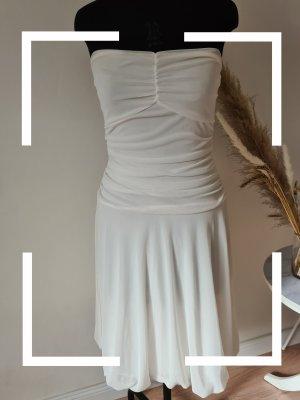 Laura Scott Chiffon Dress white-natural white