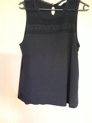 H&M Crochet Shirt black