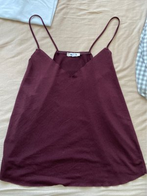 Brandy & Melville Top con bretelline bordeaux