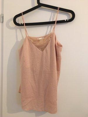 H&M Silk Top dusky pink