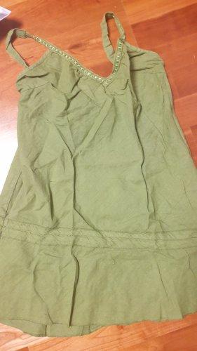 Keine Marke Top línea A gris verdoso