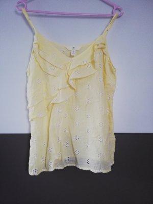 H&M Canotta a bretelle giallo chiaro