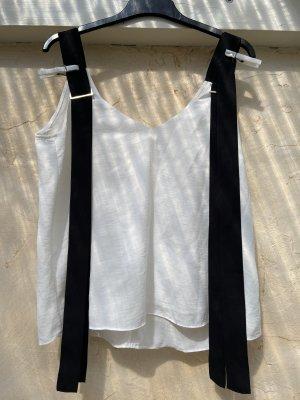 Stradivarius Camisa de mujer blanco-negro Poliéster