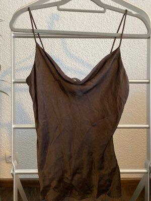Zara Basic Camisoles dark brown-brown