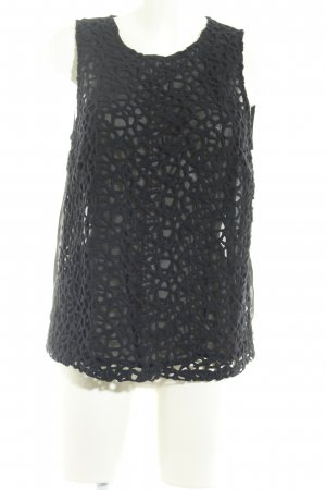 Trägertop schwarz abstraktes Muster