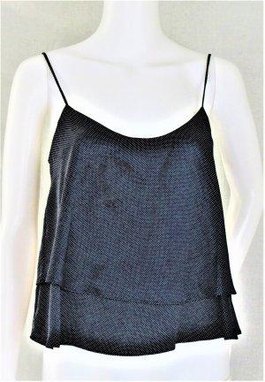 Trägertop von Mango Suit /100% Polyester/ Dunkelblau/Mini-Polka-Dots/ NEU mit Etikett!