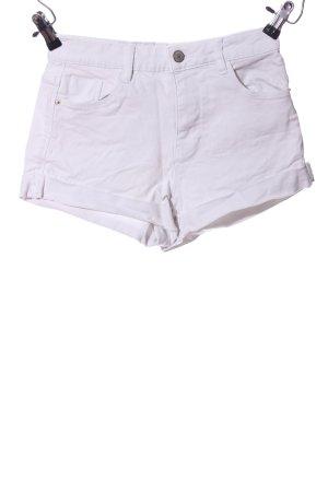Trafaluc by Zara Hot Pants weiß Casual-Look