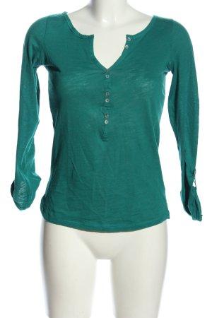 Trafaluc by Zara Camisa acanalada verde look casual