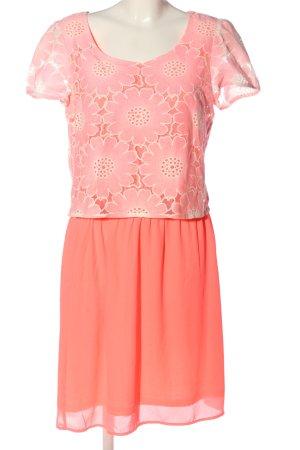 Traffic people Vestido de cóctel rosa-naranja claro estampado floral