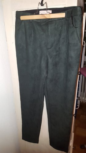 Traffic People Hose 7/8 Velour Suede dunkelgrün Gr.M