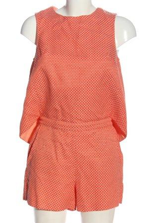 Traffic people Kurzer Jumpsuit rose-crème imprimé allover style décontracté