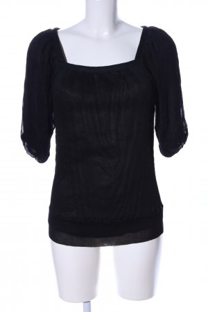 Traffic people Spitzenbluse schwarz Casual-Look