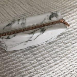 Tragbare PU Reißverschluss Marmor Muster Kosmetiktasche Kleiner Kulturbeutel NEU