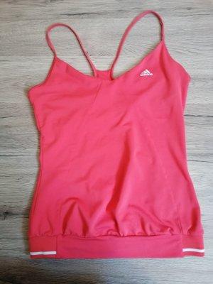 Adidas Top con bretelline rosso chiaro