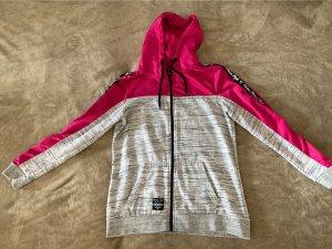 0039 Italy Giacca lunga grigio chiaro-rosa Cotone
