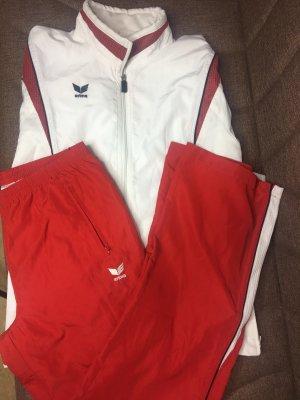 Erima Spodnie garniturowe biały-ciemnoczerwony