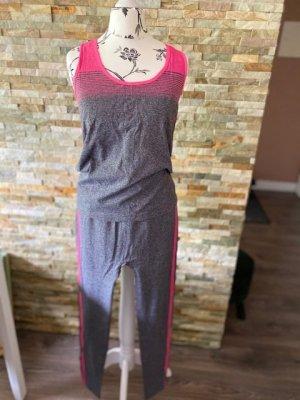 Robe de chambre gris-rose polyamide