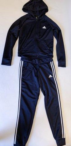 Adidas Kurtka z kapturem ciemnoniebieski
