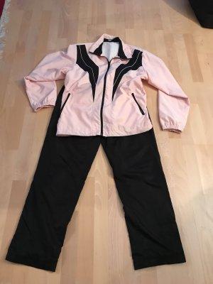atone Completo sportivo nero-rosa chiaro