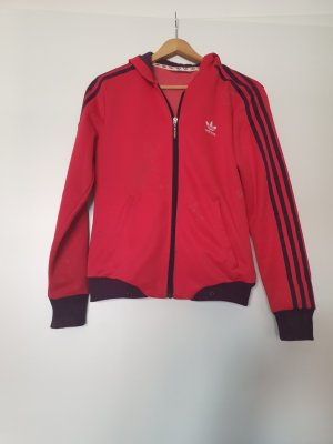 Adidas Chaqueta deportiva rojo neón-violeta oscuro