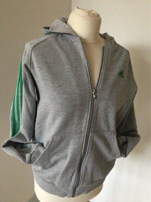 Adidas Chaqueta con capucha gris claro-verde bosque