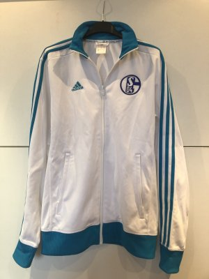Adidas Sports Jacket white-neon blue