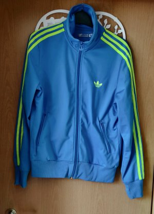 Adidas Veste de sport jaune fluo-bleu fluo