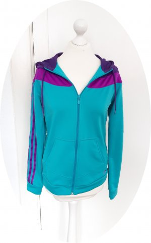 Adidas Veste de sport bleu pétrole-violet