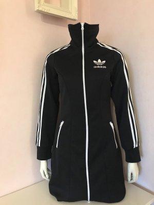 Trainingsjackenkleid/Lange Trainingsjacke von Adidas - schwarz/weiß