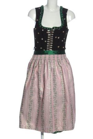 Tramontana Dirndl verde-rosa motivo floreale stile classico