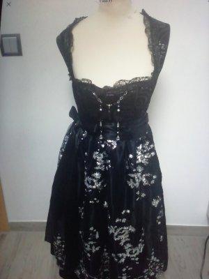 Tramontana Vestido Dirndl negro-color plata
