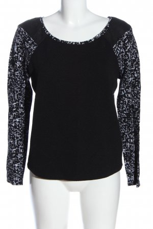 Tramontana Crewneck Sweater black-white abstract pattern casual look