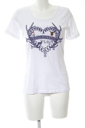 Tramontana T-Shirt weiß-blau Motivdruck Casual-Look