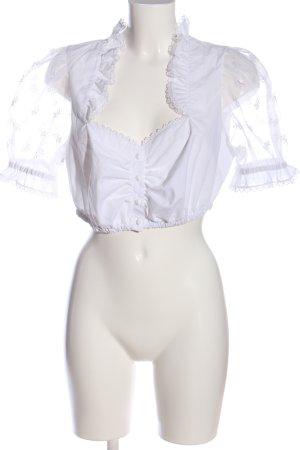 Tramontana Folkloristische blouse wit klassieke stijl