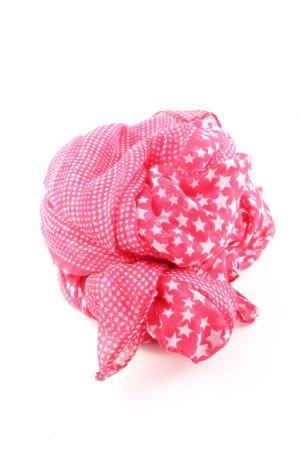 Fazzoletto da collo rosa-bianco stampa integrale stile casual