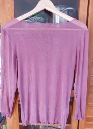 enna Top in seta rosa antico-rosa