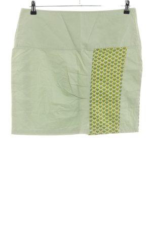 Tranquillo Minirock grün-blassgelb grafisches Muster Casual-Look