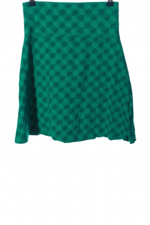 Tranquillo Knitted Skirt turquoise graphic pattern casual look