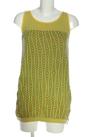 Tranquillo Canotta a bretelle verde-arancione chiaro stampa integrale