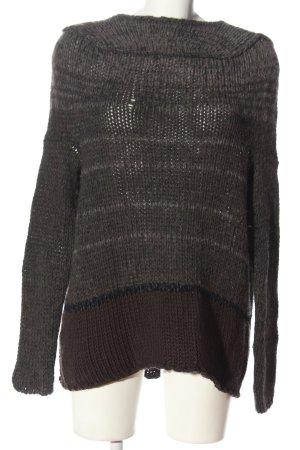 TRANSIT PAR-SUCH Jersey de ganchillo marrón moteado look casual