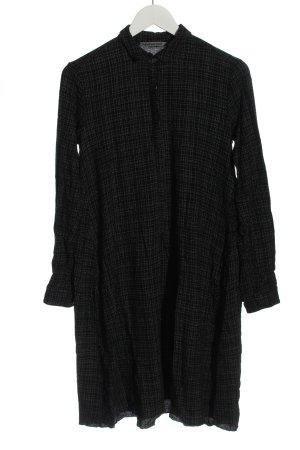 TRANSIT PAR-SUCH Robe chemise noir-gris clair motif à carreaux