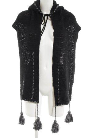TRANSIT PAR-SUCH Bufanda con capucha negro look casual