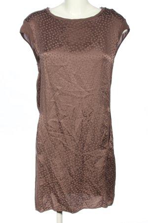 TRANSIT PAR-SUCH Midikleid bronzefarben Allover-Druck Casual-Look