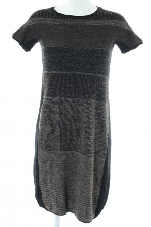 TRANSIT PAR-SUCH Knitted Dress black-light grey flecked casual look
